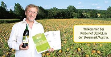 500ml Dose Original Steirisches Kürbiskernöl ggA. vom Kürbishof DEIMEL - Mit Herkunftsgarantie - Direkt von uns als Erzeuger geliefert - Jährlich prämierter Kürbiskernölerzeuger - 3
