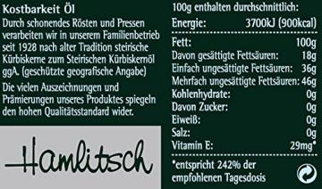 Ölmühle Hamlitsch Steirisches Kürbiskernöl g.g.A., 250 ml, 1er Pack (1 x 250 ml) - 3