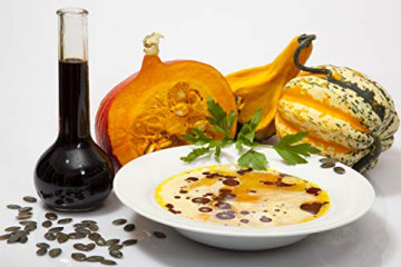 Steirisches Gourmet Kürbiskernöl | Kernöl g.g.A. in der Dose | kein Glas | Premium Qualität | hochdosiert | mildes Nussaroma | 100% vegan und kaltgepresst (1 l) - 7