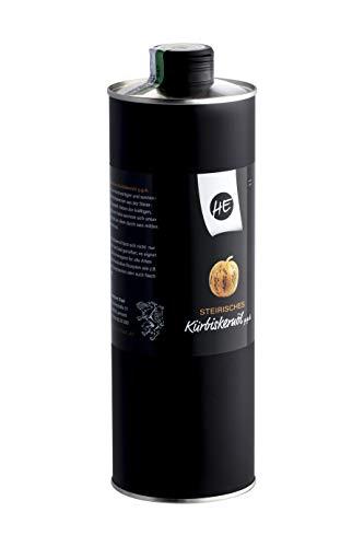 Steirisches Gourmet Kürbiskernöl | Kernöl g.g.A. in der Dose | kein Glas | Premium Qualität | hochdosiert | mildes Nussaroma | 100% vegan und kaltgepresst (1 l) - 9