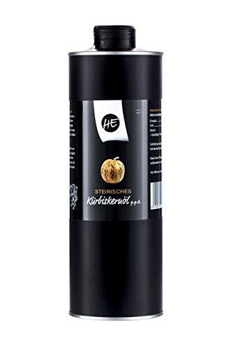 Steirisches Gourmet Kürbiskernöl | Kernöl g.g.A. in der Dose | kein Glas | Premium Qualität | hochdosiert | mildes Nussaroma | 100% vegan und kaltgepresst (1 l) - 1