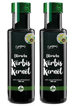 Steirisches Kürbiskernöl g.g.A. 100% reines original Kernöl aus der Steiermark Premium (1000 ml) - 1