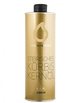 Steirisches Kürbiskernöl - Steirisches Gold, ungefiltert, traditionell, naturbelassenes 100% steirisches Kernöl g.g.A (1000ml) - 1