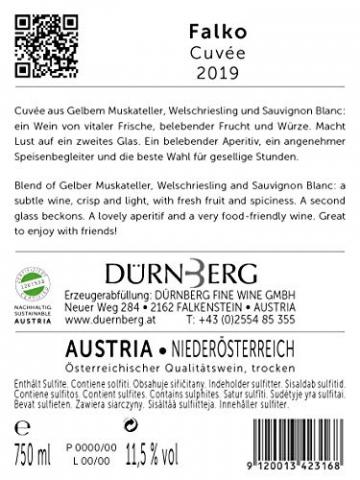 Dürnberg - Falko, Muskatellercuvée 2019 - Qualitäts Weißwein aus Österreich, trocken (6 x 0,75l) - 2