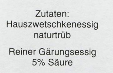 Essigmanufaktur Oswald / Schaffer - Hauszwetschkenessig, naturtrüb, histaminarm, vegan, 250 ml - 4