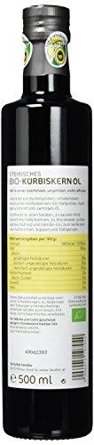 Fandler Original steirisches Bio-Kürbiskernöl g.g.A., 1er Pack (1 x 500 ml) - 3
