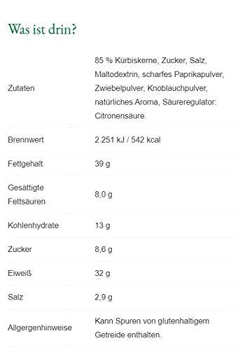 Steirerkraft - Steirische Kürbiskerne - Paprika-Chili - 40 g - 2
