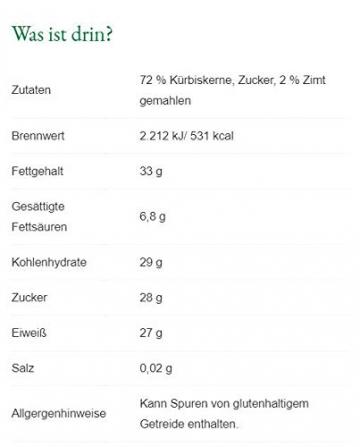 Steirerkraft - Steirische Kürbiskerne - Zimt Selection - 100 g - 2
