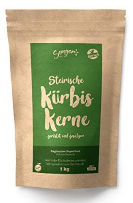 Steirische Kürbiskerne geröstet und gesalzen natürlich, vegan gesunde Knabber-Kerne 1kg - 1