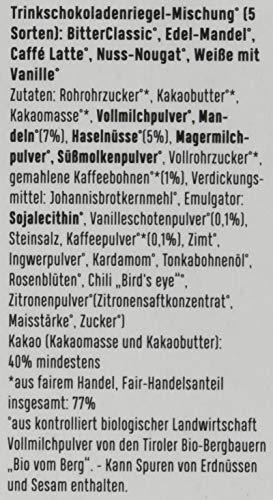 Zotter Variation Klassik (Bitter Classic, Edel-Mandel, Cafe Latte, Nuss-Nougat, Weiße mit Vanille) 1er Pack (1 x 110 g) - Bio - 3