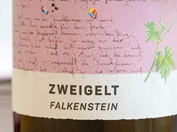 Zweigelt, Falkenstein 2018 - Qualitäts Rotwein aus Österreich, trocken (6 x 0,75l) - 2